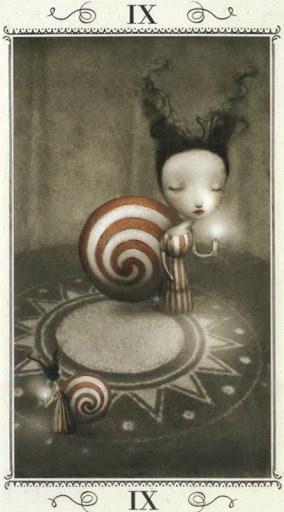 Lá IX. The Hermit - Nicoletta Ceccoli Tarot
