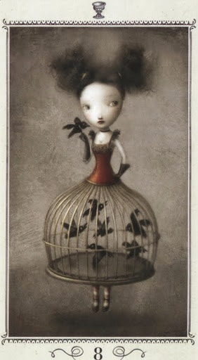 Lá 8 of Cups - Nicoletta Ceccoli Tarot