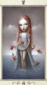 Lá Page of Cups - Nicoletta Ceccoli Tarot