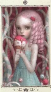 Lá Queen of Pentacles - Nicoletta Ceccoli Tarot