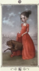 Lá King of Pentacles - Nicoletta Ceccoli Tarot