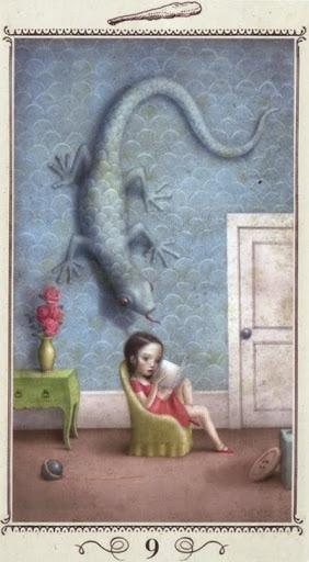 Hình Ảnh Lá Nine of Wands - Nicoletta Ceccoli Tarot Kênh Kiến Thức Và Tri Thức