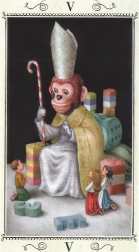 Lá V. The Hierophant - Nicoletta Ceccoli Tarot