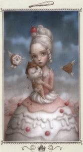 Lá Queen of Wands - Nicoletta Ceccoli Tarot