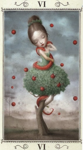 Lá VI. The Lovers - Nicoletta Ceccoli Tarot