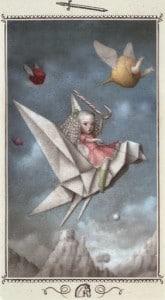 Lá Knight of Swords - Nicoletta Ceccoli Tarot