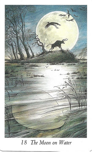 Lá 18. The Moon on Water – Wildwood Tarot