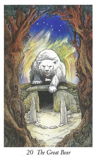 Lá 20. The Great Bear trong bộ bài Wildwood Tarot
