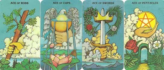 4 lá Aces đại diện cho 4 nguyên tố