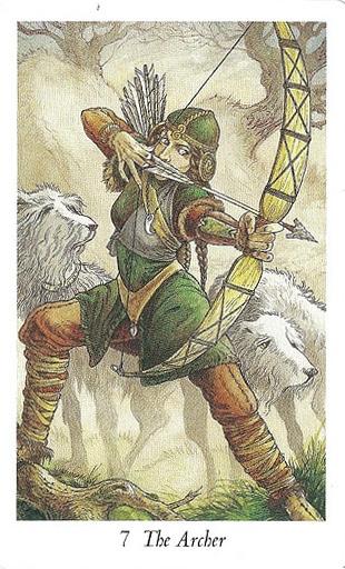 Lá 7. The Archer – Wildwood Tarot