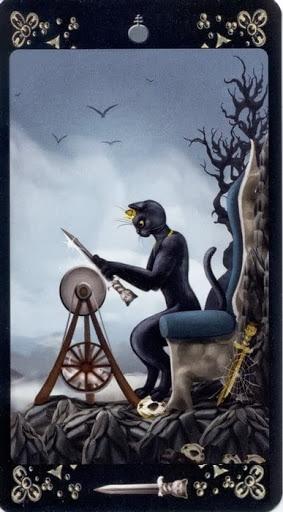 Ý nghĩa lá King of Swords trong bộ Black Cats Tarot