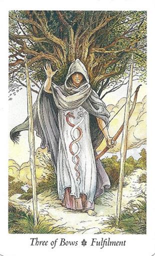 Ý nghĩa lá Three of Bows trong bộ Wildwood Tarot