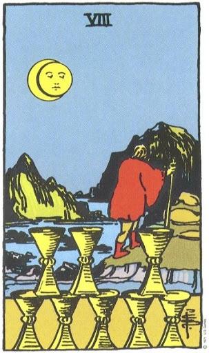 Ý Nghĩa Biểu Tượng 78 Lá Bài Tarot – Eight of Cups