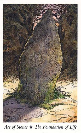 Ý nghĩa lá Ace of Stones trong bộ Wildwood Tarot