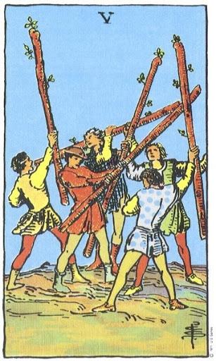 Ý Nghĩa Biểu Tượng 78 Lá Bài Tarot – Five of Wands