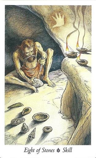Ý nghĩa Lá Eight of Stones trong bộ Wildwood Tarot