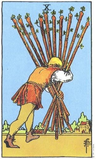 Ý Nghĩa Biểu Tượng 78 Lá Bài Tarot – Ten of Wands