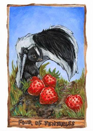 Four of Pentacles – Animism Tarot