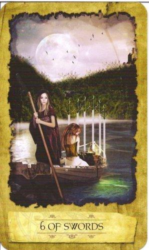 Ý nghĩa lá 6 of Swords trong bộ Mystic Dreamer Tarot