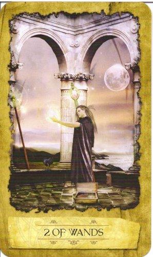 Ý nghĩa lá 2 of Wands trong bộ Mystic Dreamer Tarot