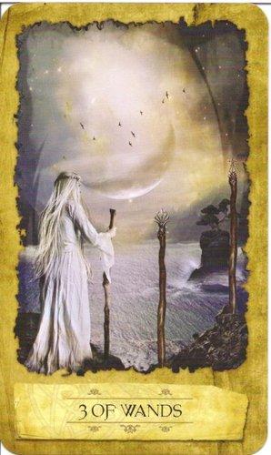 Ý nghĩa lá 3 of Wands trong bộ Mystic Dreamer Tarot