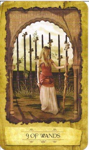 Ý nghĩa lá 9 of Wands trong bộ Mystic Dreamer Tarot