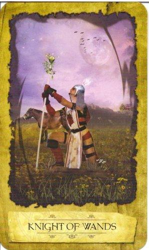 Ý nghĩa lá Knight of Wands trong bộ Mystic Dreamer Tarot