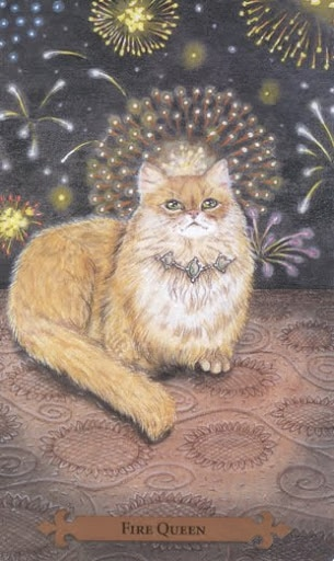 Fire Queen – Mystical Cats Tarot