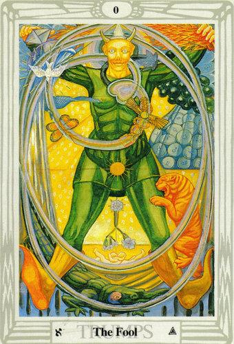 Ý nghĩa lá bài The Fool trong bộ bài Thoth Tarot