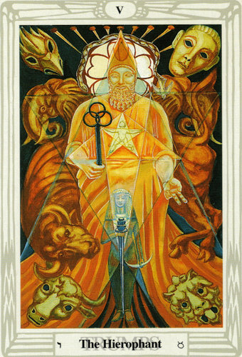 The Hierophant – Aleister Crowley Thoth Tarot