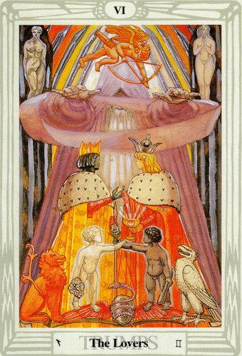 Ý nghĩa lá The Lovers trong bộ bài Thoth Tarot