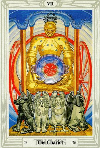 Ý nghĩa lá The Chariot trong bộ bài Thoth Tarot