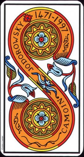 Ý nghĩa lá 2 of Pentacles trong bộ Tarot of Marseilles