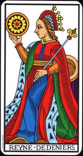 Ý nghĩa lá Queen of Pentacles trong bộ Tarot of Marseilles