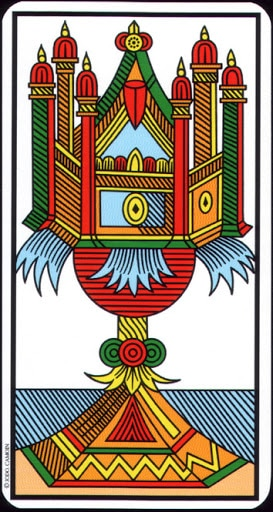 Lá Ace of Cups – Tarot of Marseilles