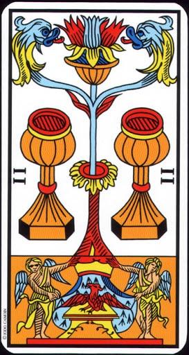 Lá 2 of Cups – Tarot of Marseilles
