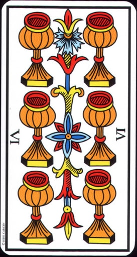Ý nghĩa lá 6 of Cups trong bộ Tarot of Marseilles