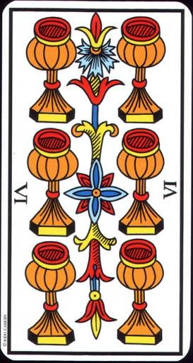 Lá 6 of Cups – Tarot of Marseilles