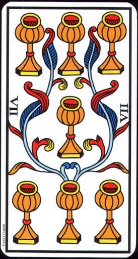 Ý nghĩa lá 7 of Cups trong bộ Tarot of Marseilles