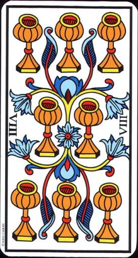 Lá 8 of Cups – Tarot of Marseilles