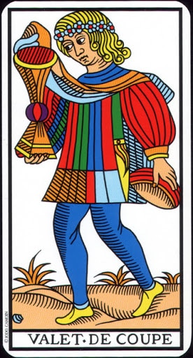 Lá Knave of Cups – Tarot of Marseilles