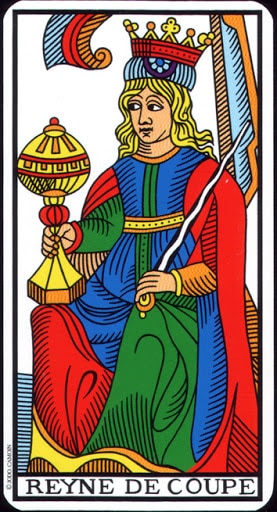 Lá Queen of Cups – Tarot of Marseilles