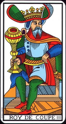 Lá King of Cups – Tarot of Marseilles