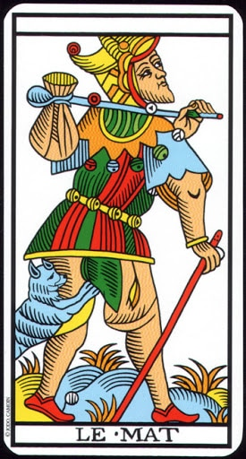 Lá 0. The Fool – Tarot of Marseilles