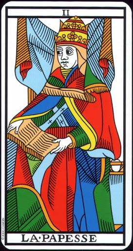 Ý nghĩa lá II - The High Priestess trong bộ Tarot of Marseilles