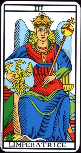 Lá III. The Empress – Tarot of Marseilles