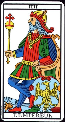 Ý nghĩa lá IIII. The Emperor trong bộ Tarot of Marseilles