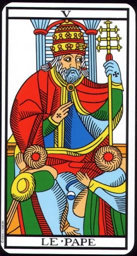 Lá V. The Pope – Tarot of Marseilles