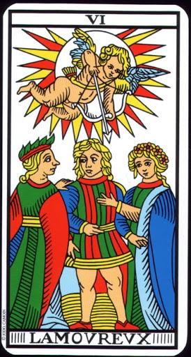 Ý nghĩa lá VI - The Lovers trong bộ Tarot of Marseilles