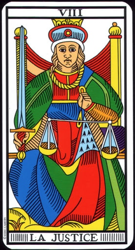 Lá VIII. Justice – Tarot of  Marseilles